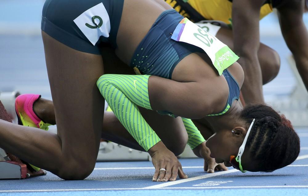 Fabiana Moraes durante as Olimpíadas do Rio — Foto: Sergio Moraes/Reuters
