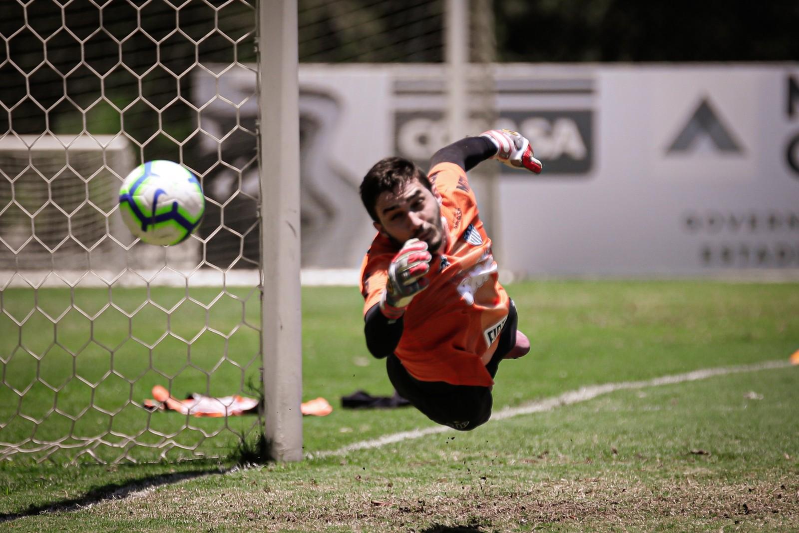 Cleiton durante treino do Atlético-MG — Foto: Bruno Cantini/ Atlético-MG
