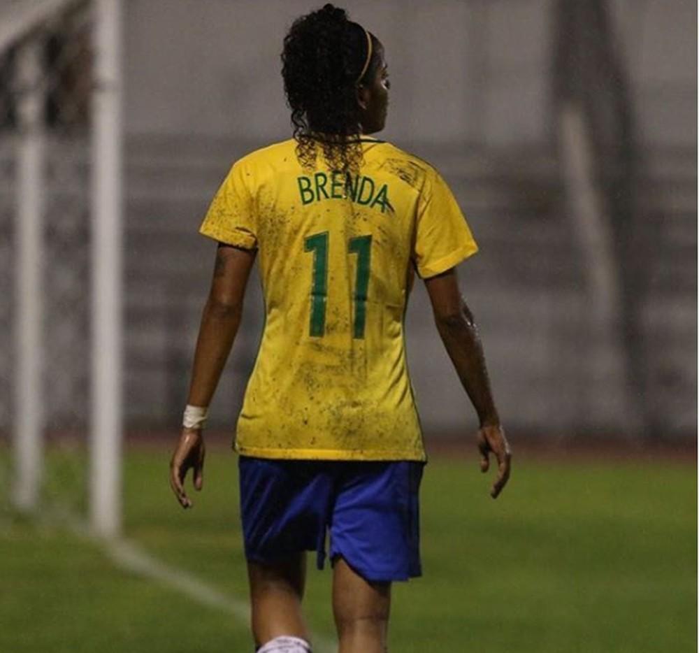 Brenda Woch na seleção brasileira sub-20 — Foto: Arquivo Pessoal