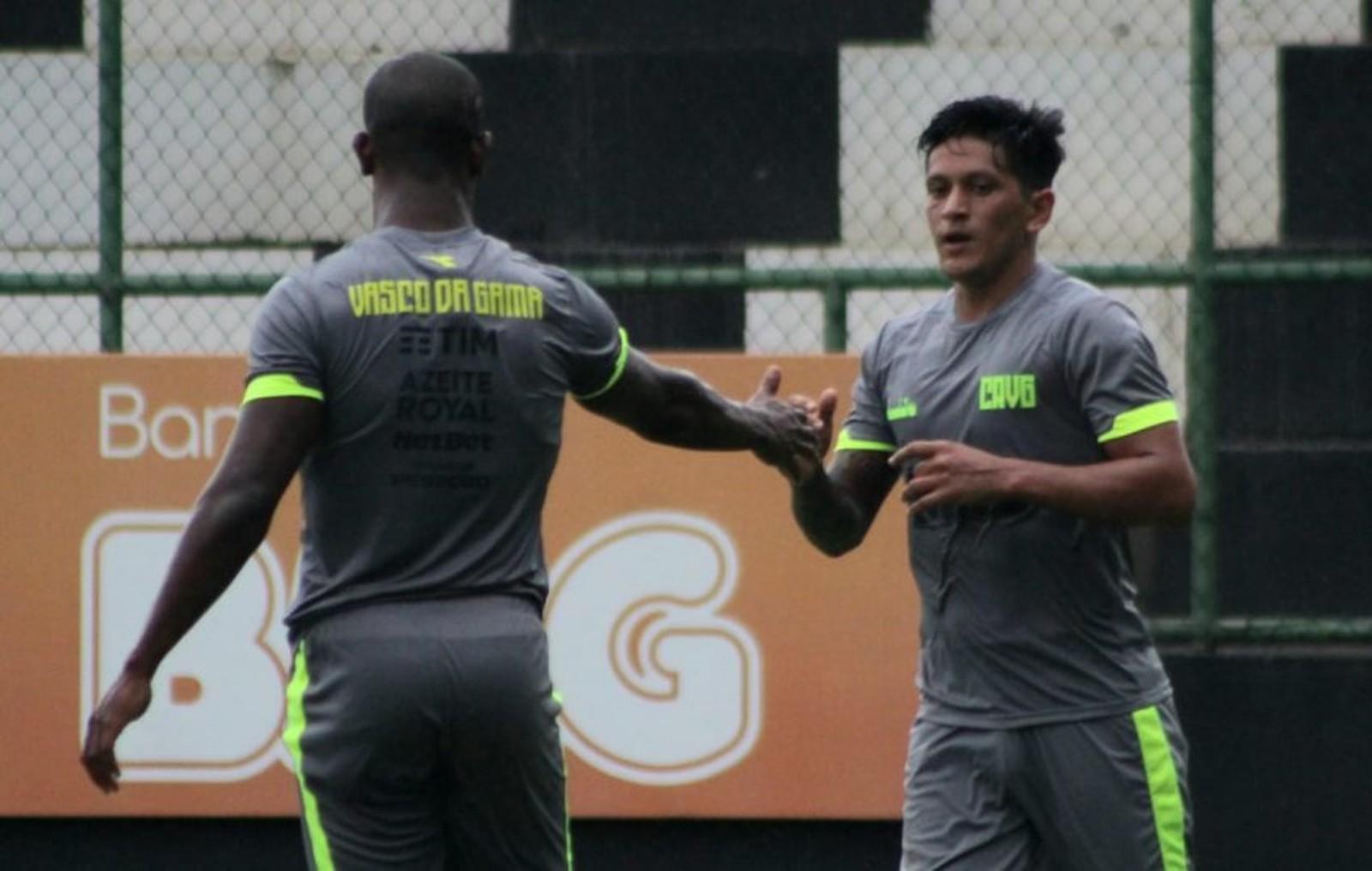 Cano marcou um gol em jogo-treino realizado pelo Vasco — Foto: Carlos Gregório Jr/Vasco