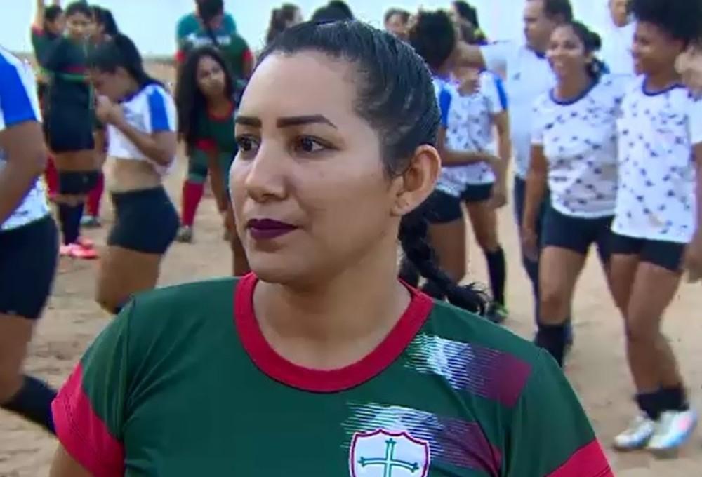  Jogadora Érica da Portuguesa finalista da Super Copa Rosa — Foto: Reprodução/RedeAmazônica