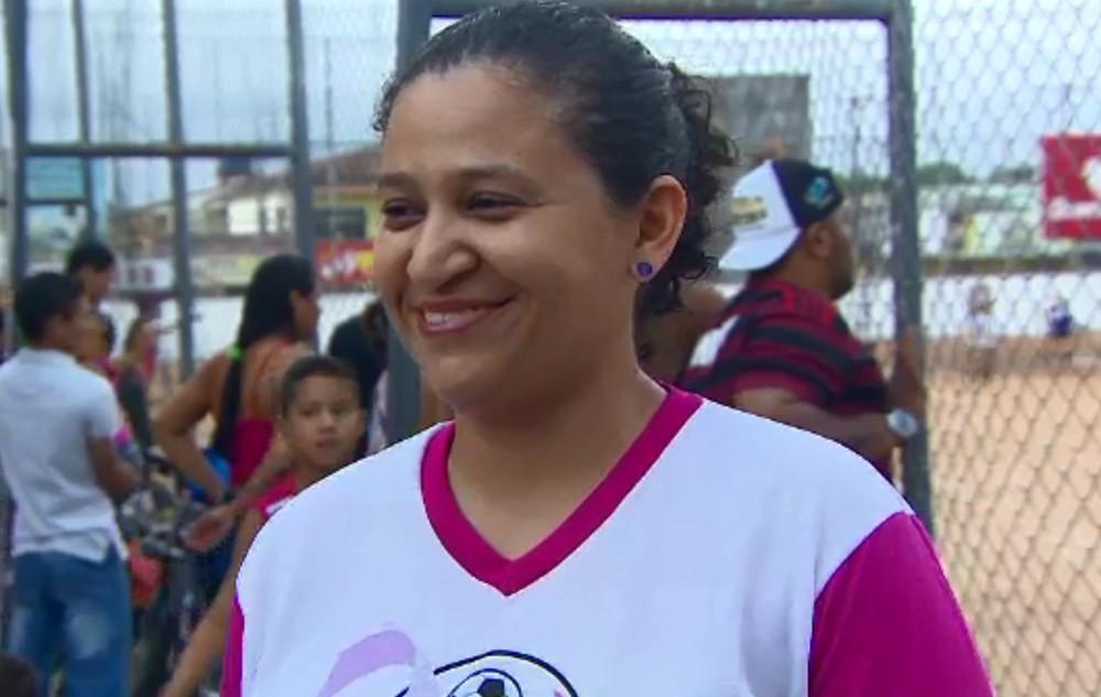 Sara Almeida que faz parte da coordenação da competição — Foto: Reprodução/RedeAmazônica