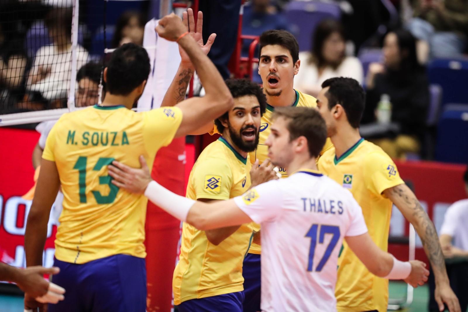 Brasil x Itália Copa do Mundo de Vôlei — Foto: Divulgação / FIVB