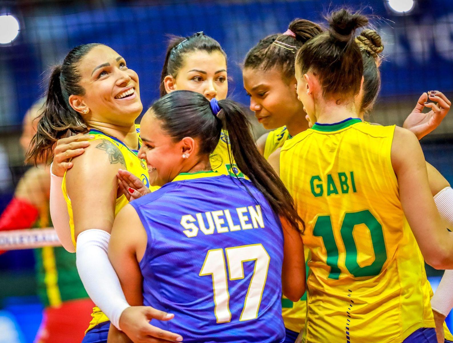 Brasil x Camarões; Pré-Olímpico; vôlei feminino; Uberlândia — Foto: FIVB