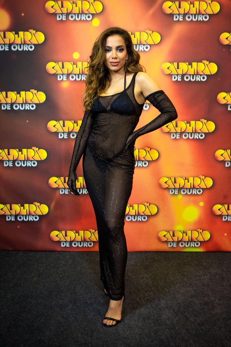 Anitta se apresentou no 'Caldeirão de Ouro' do último sábado, 4/1 — Foto: Isabella Pinheiro - Gshow