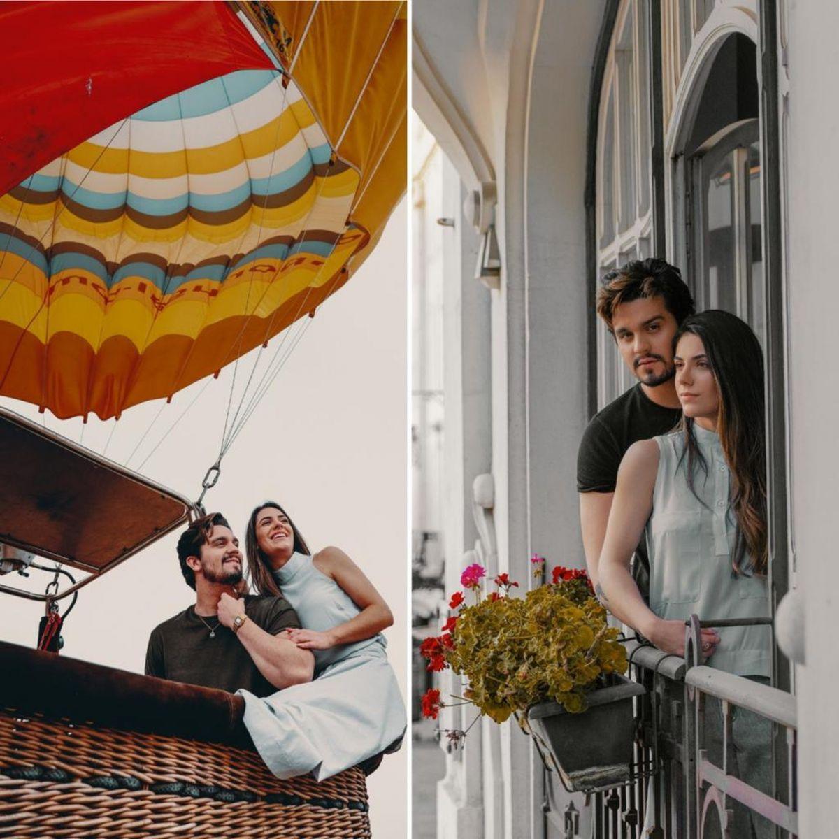 Luan Santana e Jade Magalhães: noivado nas alturas — Foto: Bruno Fioravanti/Divulgação