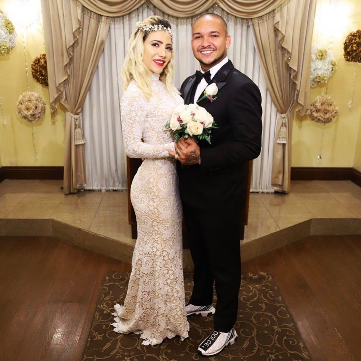 Suel se casou com Vanessa Muniz em Las Vegas e estão à espera de Jordan — Foto: Reprodução/Instagram