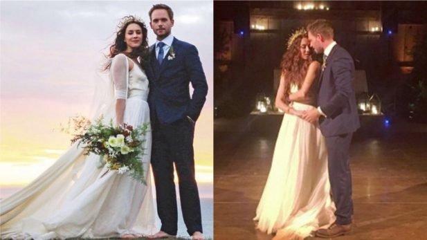 Vestido de casamento de Troian Bellisario (Instagram/Reprodução)