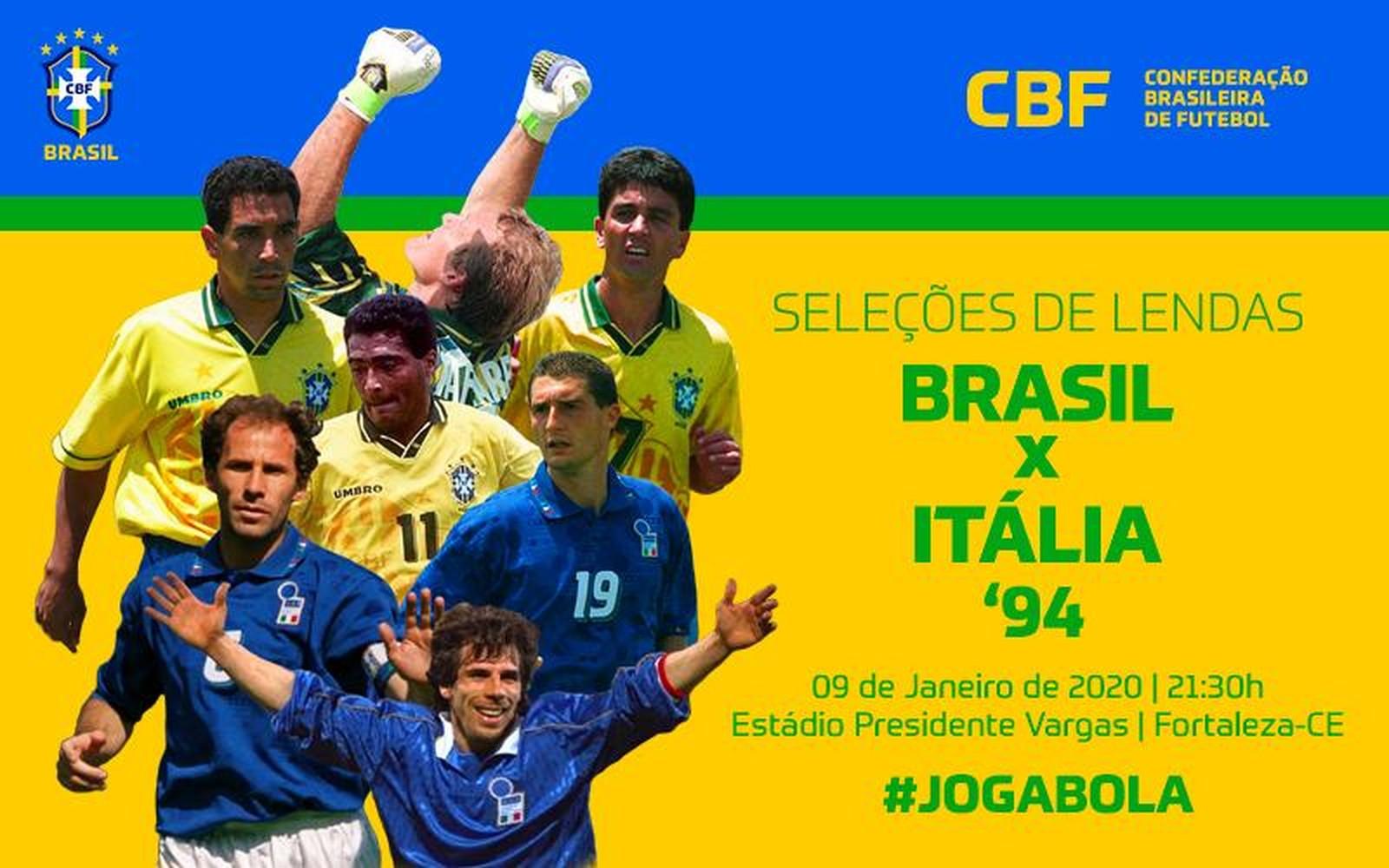 Brasil x Itália em Fortaleza — Foto: Reprodução/CBF