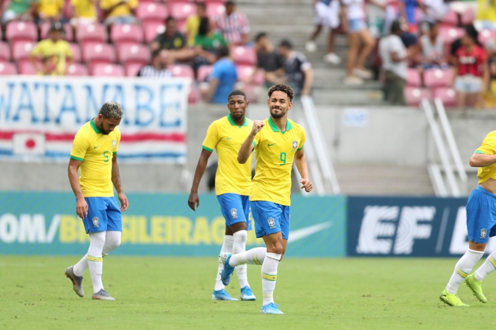 Atacante vai ser o camisa 9 no Pré-Olímpico Sul-Americano, na Colômbia — Foto: Aldo Carneiro/Pernambuco Press