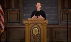 Zuckerberg defende Facebook em discurso sobre liberdade de expressão