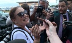 Regina Duarte chega a Brasília e almoça com Bolsonaro no Palácio do Planalto