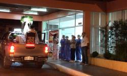 Em Parauapebas, Hospital Yutaka Takeda recebe visita da imagem de Nossa Senhora e do Santíssimo