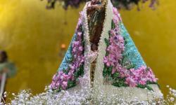 Com emoção, novo manto de Nossa Senhora de Nazaré é apresentado em Canaã