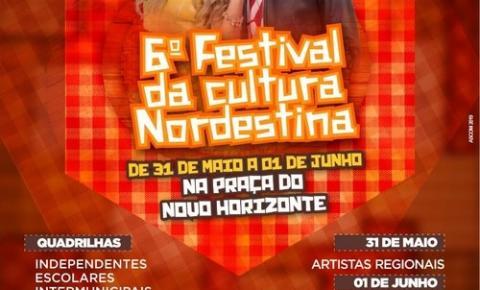 Festival da Cultura Nordestina 2019 começa nesta sexta às 19h