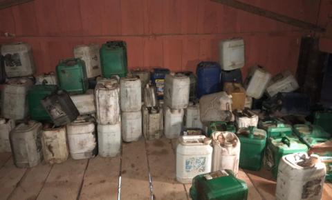 Polícia apreende galões com gasolina utilizada para queimar mata em São Félix do Xingu