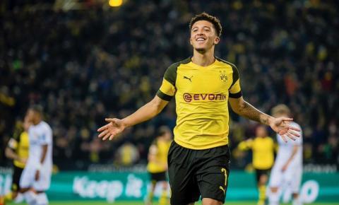Maior revelação inglesa no momento, Sancho vai sair do Borussia Dortmund no meio do ano, diz TV