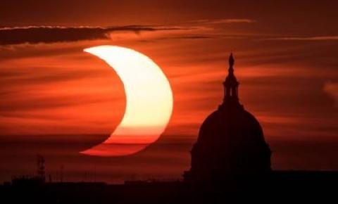 Observatório Nacional transmite eclipse raro nesta manhã.