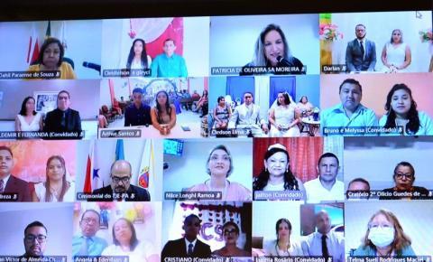 Casamento comunitário virtual oficializa a união de 42 casais no Dia dos Namorados, no Pará