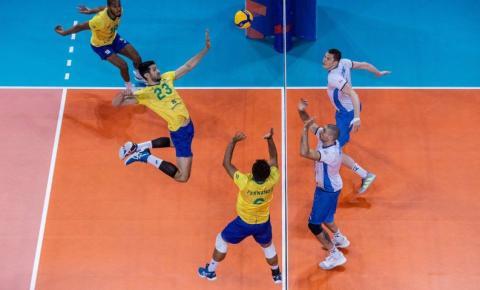 Brasil derrota Eslovênia na Liga Mundial de vôlei