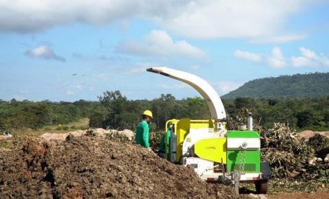 Canaã ganha usina de trituração de resíduos