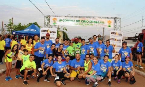 Centenas de corredores participam da 3ª edição da Corrida do Círio em Canaã dos Carajás