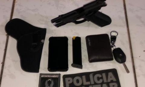 Polícia prende suspeito de violência doméstica e apreende arma de fogo em Redenção, no PA