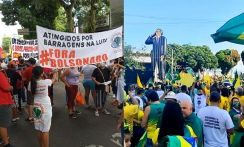 Manifestações pró e contra governo tomam as ruas de Belém