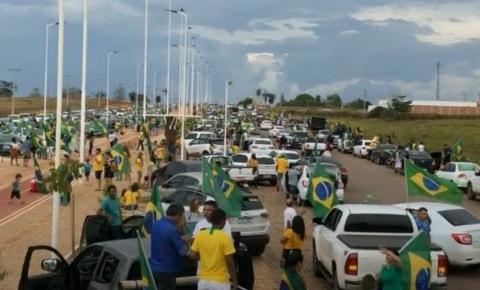 Manifestantes a favor de Bolsonaro lotam ruas de Canaã dos Carajás