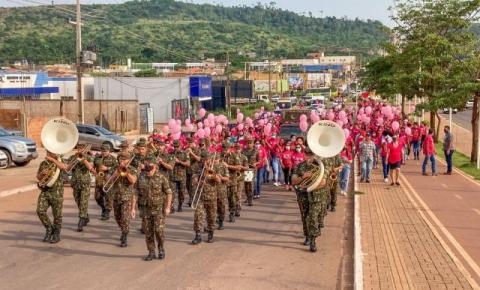 """Caminhada Rosa ressalta """"auto cuidado"""" contra o câncer de mama"""