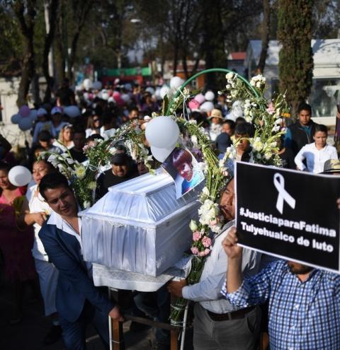 Mulheres protestam no México por assassinato de menina de 7 anos
